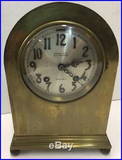 RARE 1900 Chelsea Ship's Bell Clock 4 Dial Shreve & Company Mantel Clock