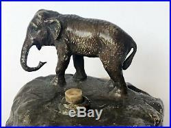 RARE! Antique BRONZE Brass Elephant BUTLER SERVANT BELL PUSH Door bell pull