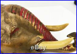 RARE Antique Brass Mechanical Elephant Hotel Bell Concierge WORKS