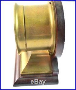 RARE Antique Brass Samuel Hammond & Co. New York Ship's Bell'' Mantle Clock