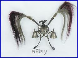 RARE Antique German black forest farm tradition horse bells eagle brass bronze