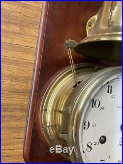 RARE Schatz Royal Mariner Ships Clock and Bell-Works