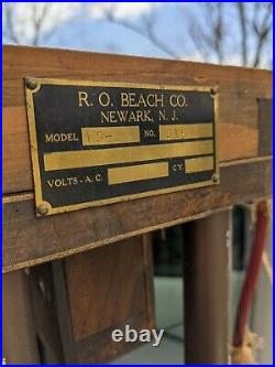 R. O. Beach Antique Percussion Band Tubular Bells 13 Orchestral Chimes Cast Brass
