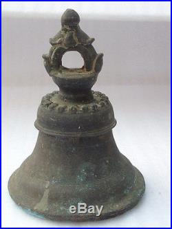 Rare Antique 1850's Ornamental Brass Bronze Ships Bell With Clapper
