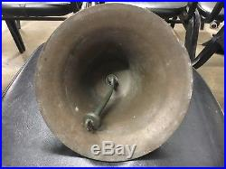 Rare Approx 8.25 Inch Bronze Brass Fog Signal Bell Ship Boat Yacht Sailboat