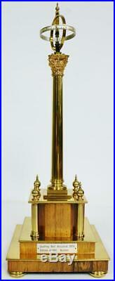 Rare English 8 Day Geoffrey Bell Mystery Heavenly Pillar Clock In Glass Dome