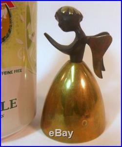 Rare MCM Walter Bosse Herta Baller ANGEL BELL Brass Bronze Vienna Austria