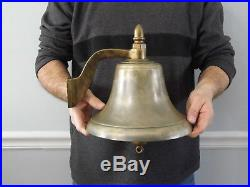 Rare Vintage 10 Brass Fog Signal Ships Bell over 15 lbs