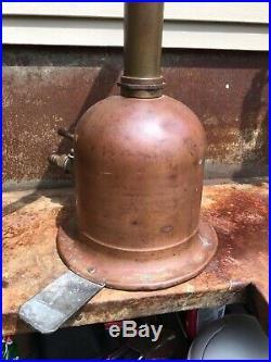 Rare Wm Boekel & Co 1904 Copper & Brass Diving Bell Helmet Hand Air Pump