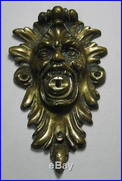 Rare old Devil head brass push bell