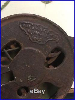 Real Deal Antique 1882 Bronze Or Brass Twist Door Bell Victorian Era One Of Kind