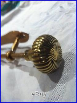 Reclaimed Antique Solid Brass Bell Pull Front Door Seldom Available Quality Item