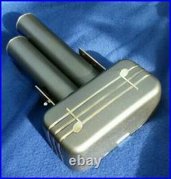Retro Vintage Morphy Richards Electric Cyldon Door Bell Chime Brass Grey Steel