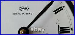 Royal Mariner Schatz Ships Clock W. Germany Brass Bulkhead Waking Bells Silent