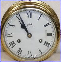 SCHATZ Germany Royal Mariner Ship's Bell Clock with key