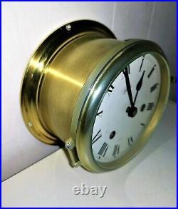 SCHATZ ROYAL MARINER NAUTICAL MARITIME SHIPs CLOCK. 8-BELL
