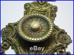 STUNNING William Tonks & Sons brass bronze door push bell liberty head RARE