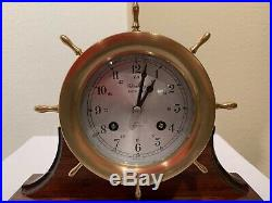 Schatz Admiralty Ships Bell Clock 8 Day 7 Jewels Mounted in Working Condition