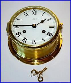 Schatz Brass German Ships Bell Clock 6 diameter