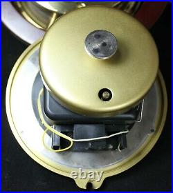 Schatz Ocean-Quartz Ship's Bell Clock Brass Maritime WORKING Vintage
