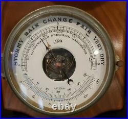 Schatz Royal Mariner 8 Day Bell Clock with Precision Nautical Barometer