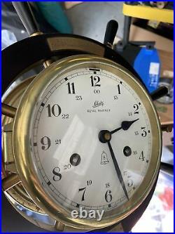 Schatz Royal Mariner 8-day Brass Ships Bell Clock Untested No Key