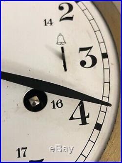 Schatz Royal Mariner Vintage German 8 Day Marine Ships Bell Clock