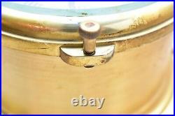 Schatz Ships bell Clock Barometer Set antique winding VTG Nautical Brass Pair