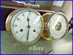 Schatz Vintage Royal Mariner Ships Bell Clock Barometer Therm Set Jumbo Navy