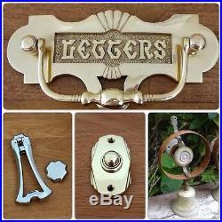 Servants Bell Butler Maid Door Knobs Handles Victorian Knocker Lock Brass Push