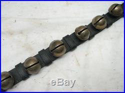 Set 22 Early Antique Brass/Bronze Sleigh Neck Bells Horse Equestrian Musical
