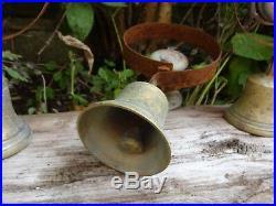 Set Of 3 Reclaimed Servants Maid Butler Bell Brass Bells Door Knobs Handles