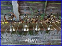 Set Of 4 Refurbished Servants Maid Butler Bell Brass Bells Door Knobs Handles