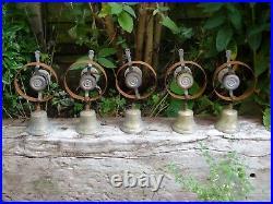 Set Of 5 Reclaimed Servants Maid Butler Bell Brass Bells Door Knobs Handles