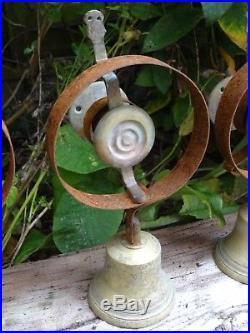 Set Of 5 Servants Maid Butler Bell Brass Reclaimed Bells Door Knobs Handles