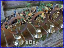 Set Of 6 Refurbished Servants Maid Butler Bell Brass Bells Door Knobs Handles