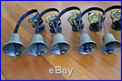 Set Of 7 Gorgeous Graduated Servants Maid Butler Brass Bells Annuciator Call