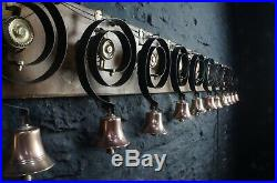 Set of 12 Matching Brass Servants Bells Film TV Country House Stage Hotel