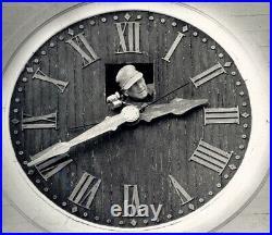 Seth Thomas Brass Helmsman 8 Day, Ship's Bell Clock and Mahogany Base