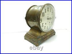 Seth Thomas Denton Ships Bell Clock Seven Jeweled Eight Day Clock 115b