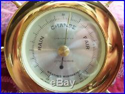 Seth Thomas Helmsman #1008 Nautical Ship Bell Clock 1508 Barometer