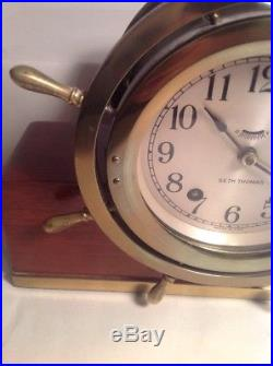 Seth Thomas Helmsman Ships Bell Clock