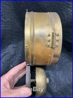 Seth Thomas Ships Clock Exposed Bell Lever Movement Not Running