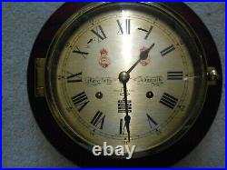 Sewills Ships Bell Clock. Vintage. Christmas! Spares or Repairs needs service