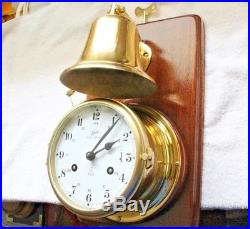 Ship Clock Schatz Royal mariner open bell service by clockmaker (by me)