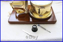 Ship Clock Schatz Royal mariner open bell service by clockmaker (by me)