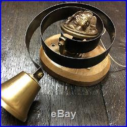 Solid Brass Victorian Antique Georgian Butlers Servants Door Bell Doorbell