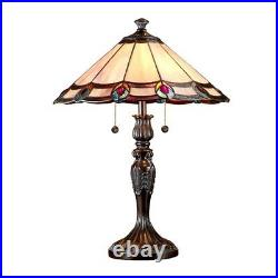 Springdale 2 Light Aldridge Peacock Table Lamp, Antique Bronze TT101081J