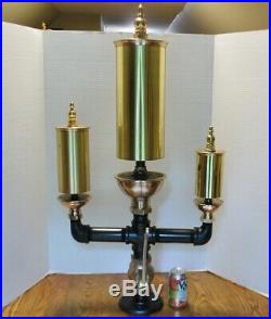 Steam whistle 3 bell chime antique brass Penberthy