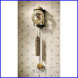 Steampunk Gravity Wall Clock Pendulum & Weight Hourly Bell Chime Roman Numerals